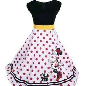 Disney Parks Minnie Mouse Figaro Rock Dots Dress